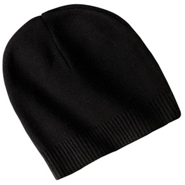 Imprinted Port Authority® 100% cotton beanie