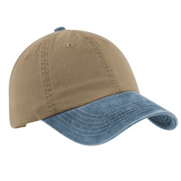 Personalized Port Authority® two-tone garment washed cap