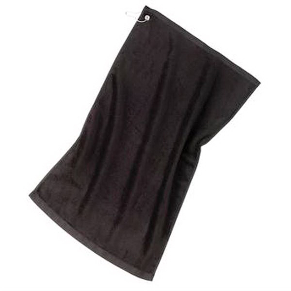 Custom Port Authority® grommeted golf towel