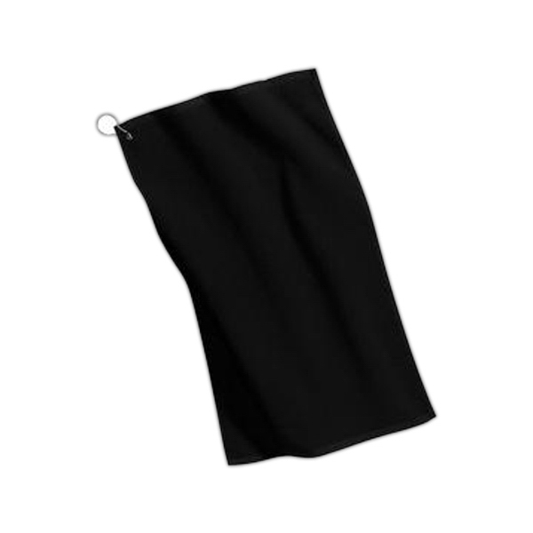Promotional Port Authority® grommeted microfiber golf towel