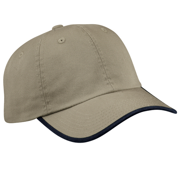 Personalized Port Authority® twill cap with contrast visor trim