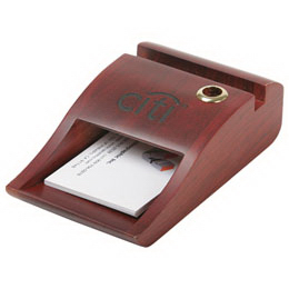 Personalized Business card, memo pad holder and pen holder