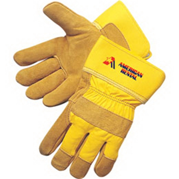 Promotional Pile Lined Split Cowhide Work Gloves