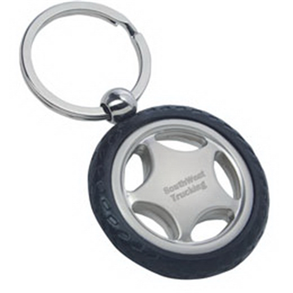 Promotional Rubber tire shaped key tag