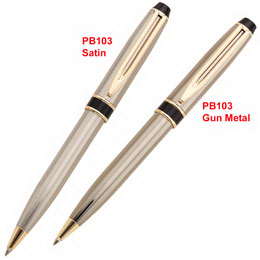 Imprinted Solid brass twist action ballpoint pen