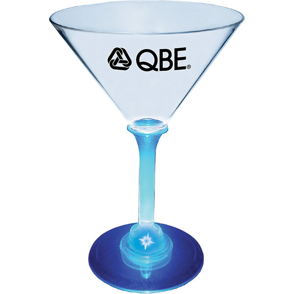 Custom 7oz Lighted Standard Stem Martini Glass