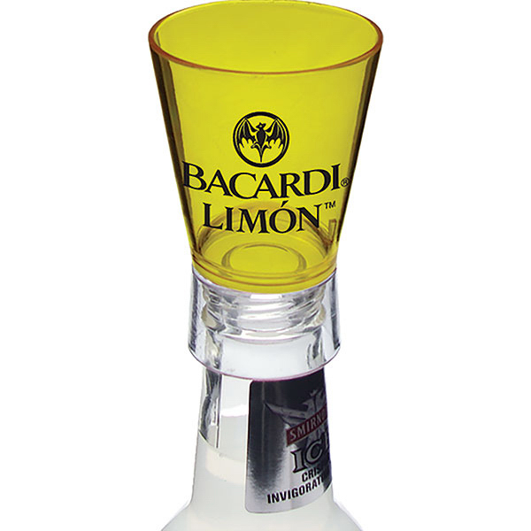 Custom 1.5oz Bottle Top Shot Glass