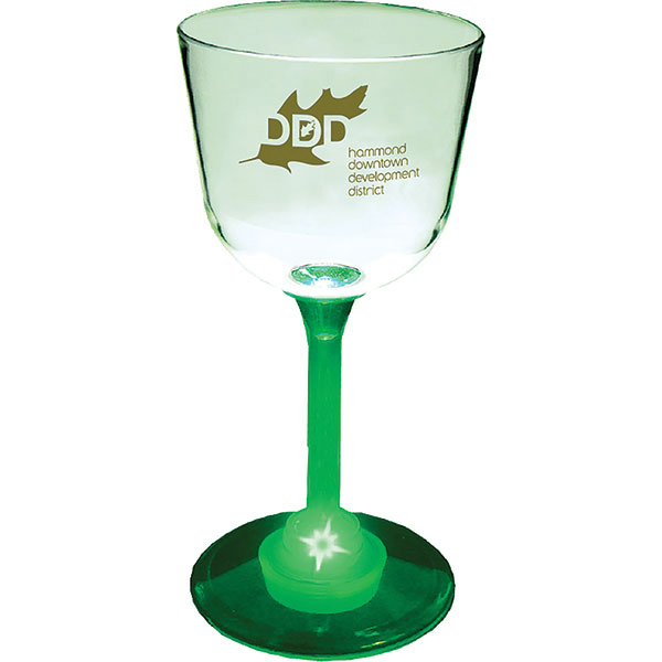Personalized 7oz Lighted Standard Stem Wine Glass