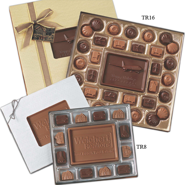 Personalized Medium Custom Molded Chocolate Delights Gift Box