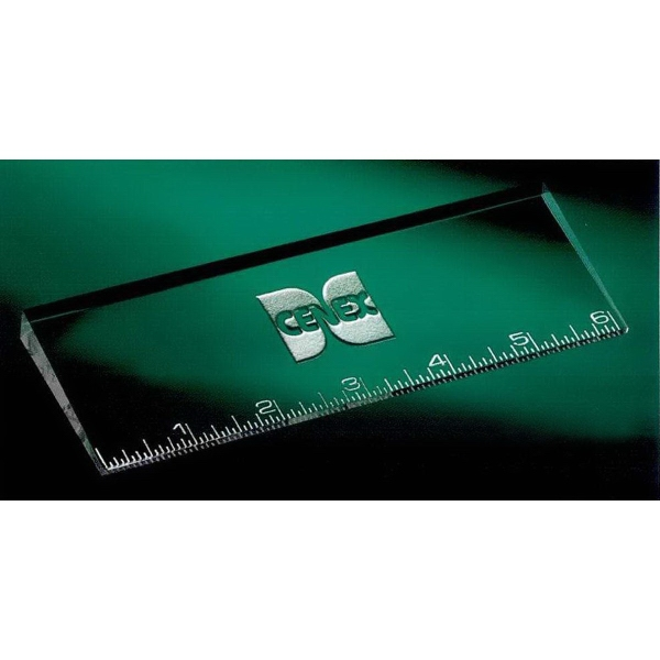 "Customized 6"" Oblique Ruler"