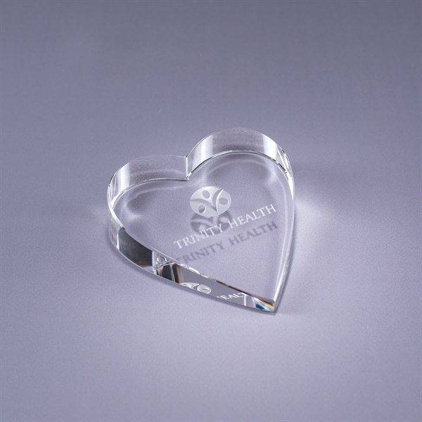 Imprinted Heart Paperweight