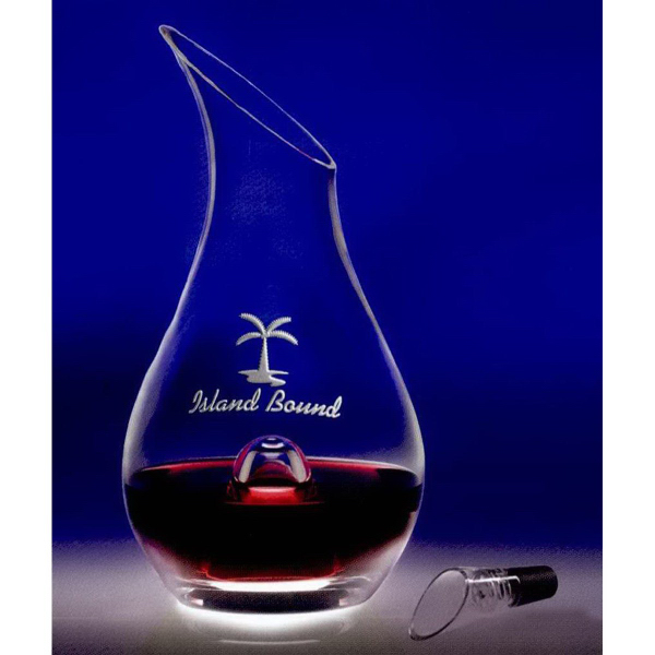 Imprinted 46 oz Essence Wine Decanter