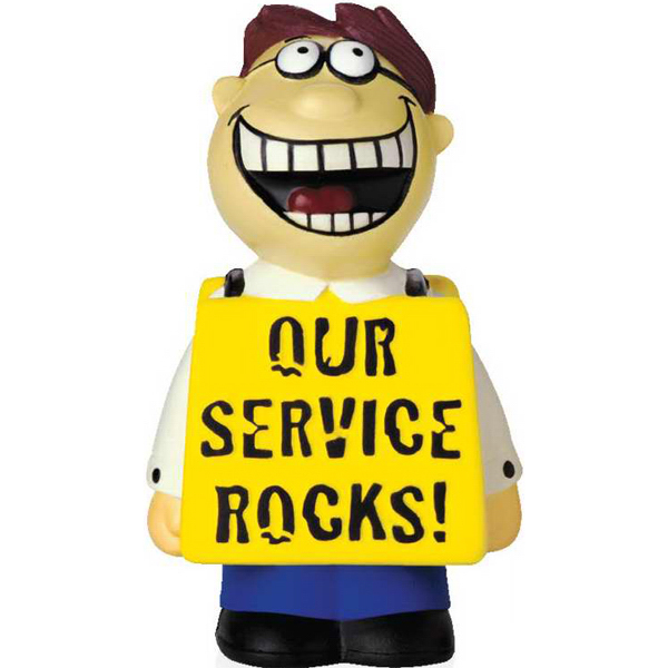 Custom Our Service Rocks Talking Stress Reliever