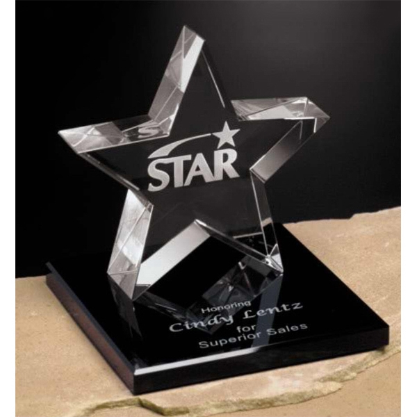 Personalized Tapered Star Award on Base