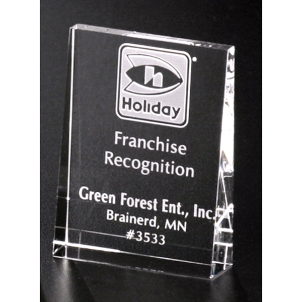 Personalized Vertical Wedge Award