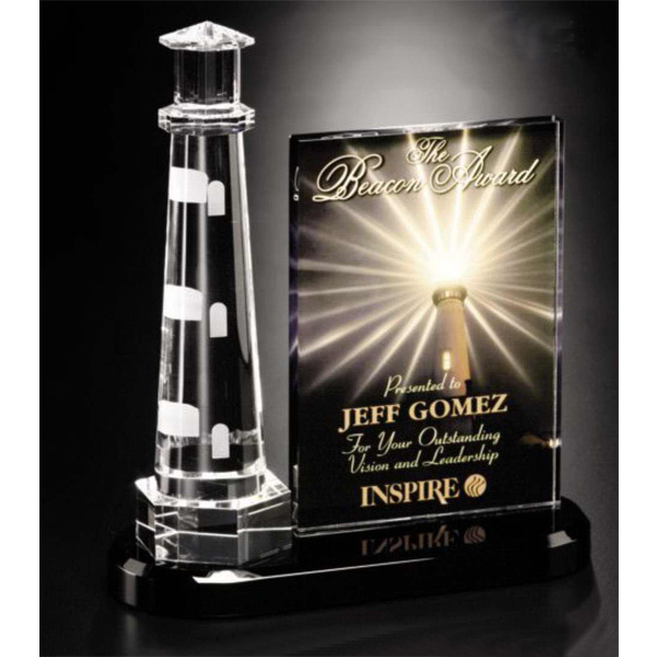 Personalized Illumachrome (TM) Journey Point Lighthouse Award