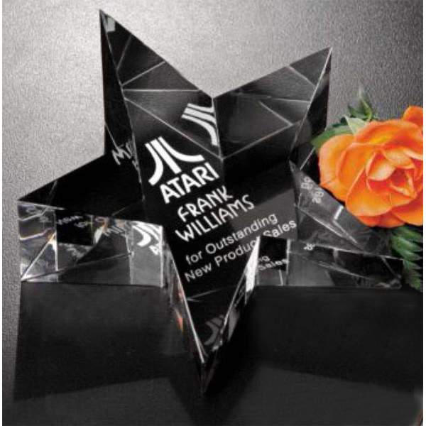 Custom Slanted Star Paperweight