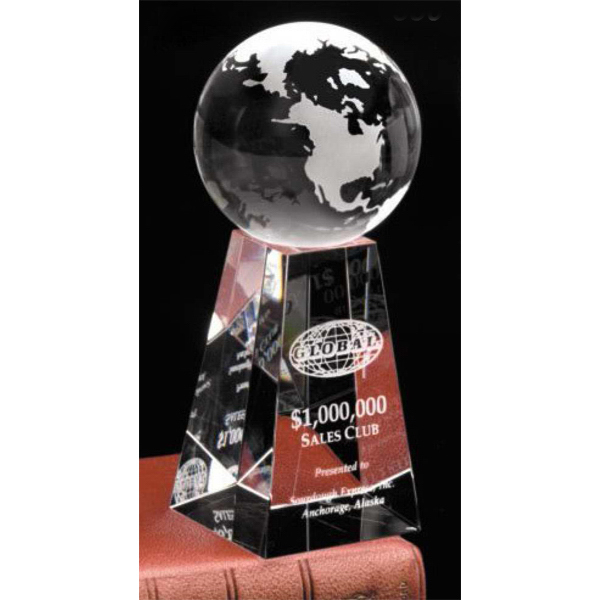 Imprinted Tapered Globe Award