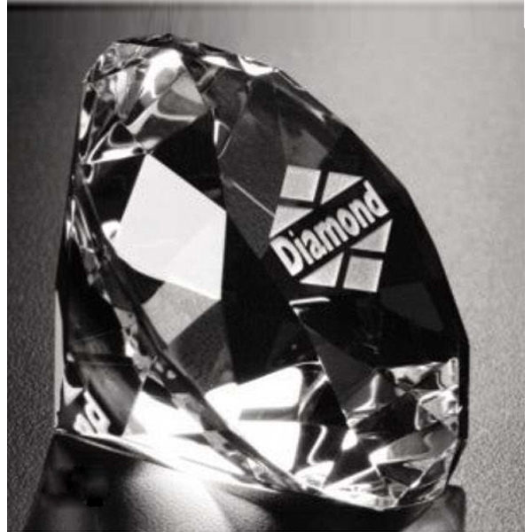 Imprinted Diamond Paperweight