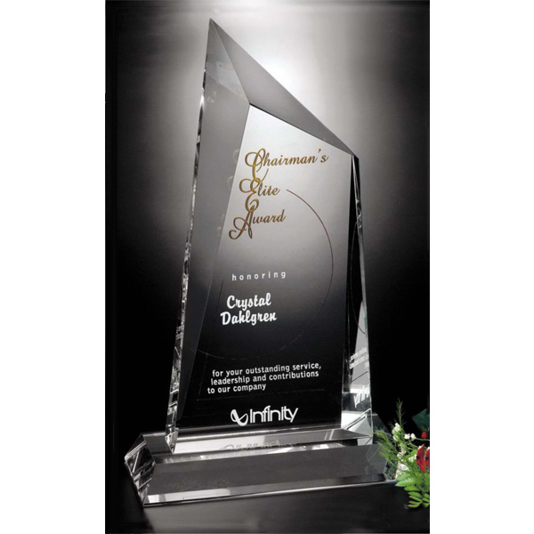 Customized Cathedral Peak Crystal Award