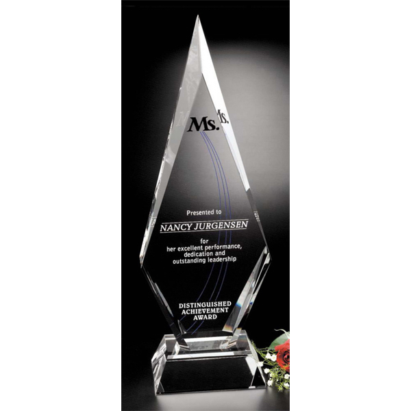 Printed Solitaire Crystal Award