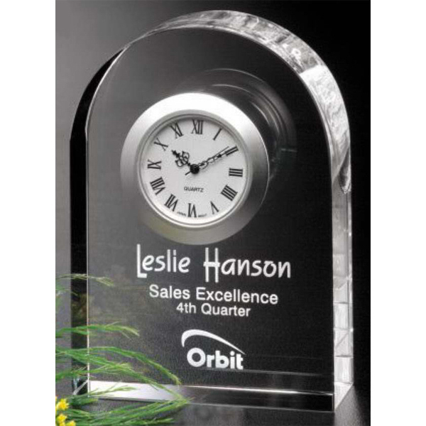 Imprinted Rutledge Clock Award
