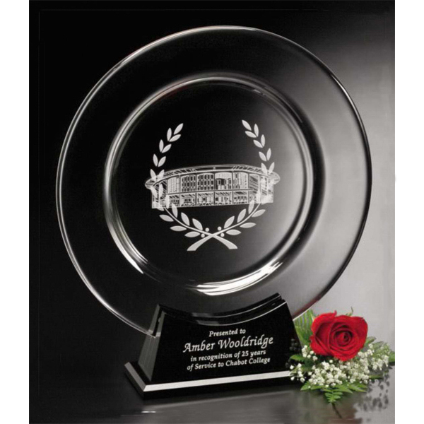Custom Atoria Plate Crystal Award