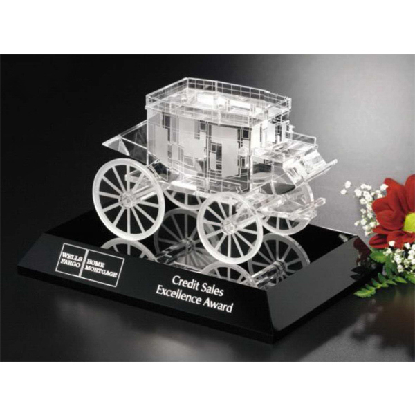 Customized Stagecoach Award on Black Base