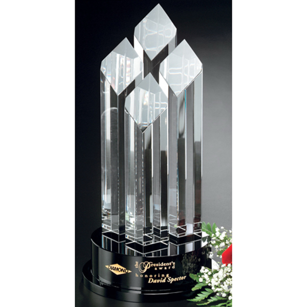 Imprinted Diamond Tiara Crystal Award