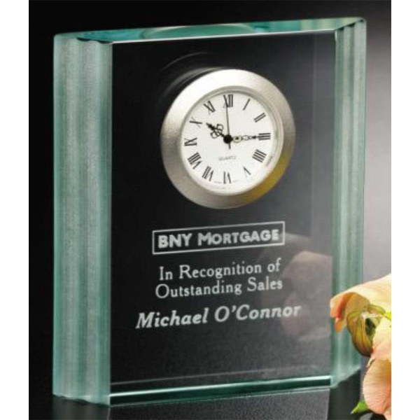 Personalized Jade Wave Clock Award