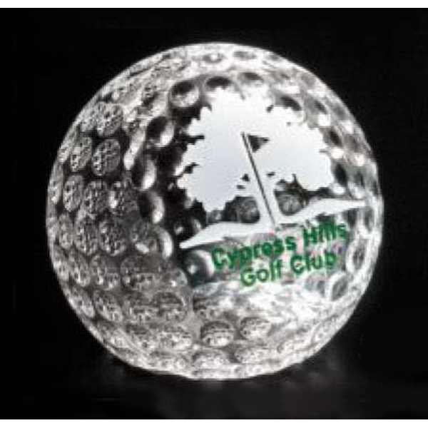 Custom Clipped Golf Ball Award