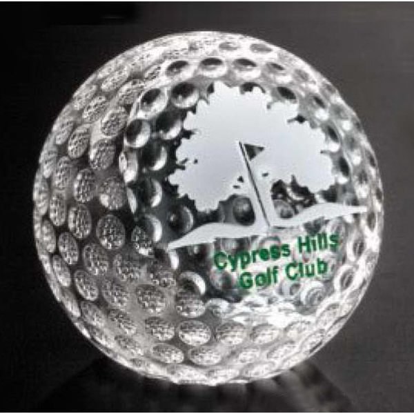 Printed Clipped Golf Ball Award