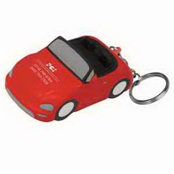 Printed Convertible Car Key Chain Stress Reliever