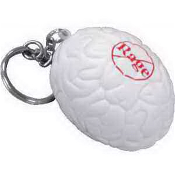 Custom Brain Key Chain Stress Reliever