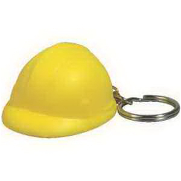Promotional Hard Hat Key Chain Stress Reliever