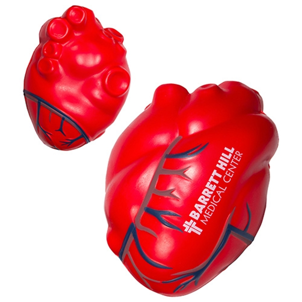 Personalized Heart with Blue Veins Stress Reliever