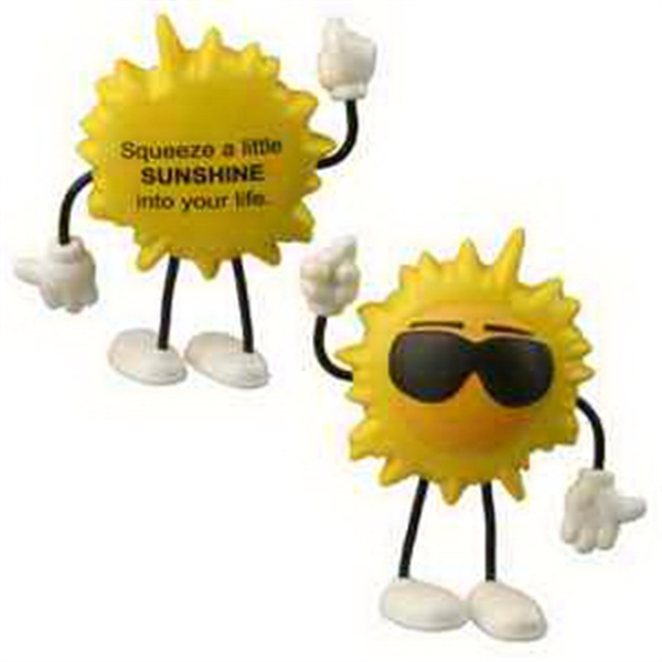 Promotional Cool Sun Figure Stress Reliever