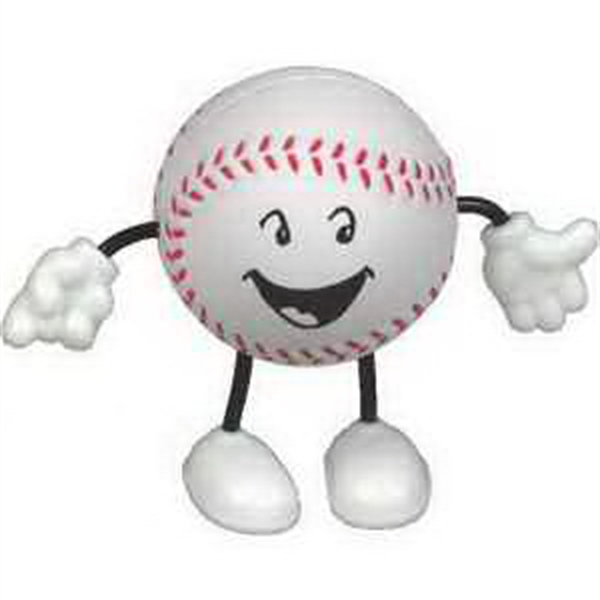Printed Baseball Figure Stress Reliever