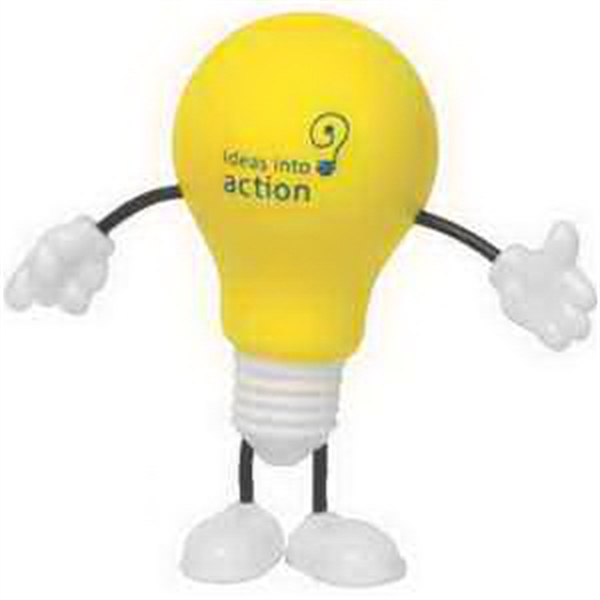 Customized Lightbulb Figure Stress Reliever