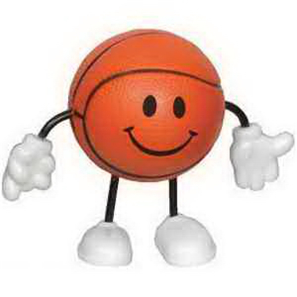 Promotional Basketball Figure Stress Reliever