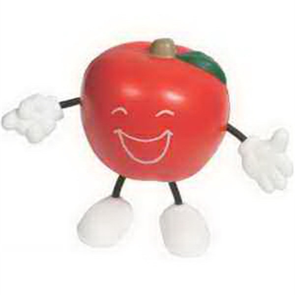 Imprinted Apple Figure Stress Reliever
