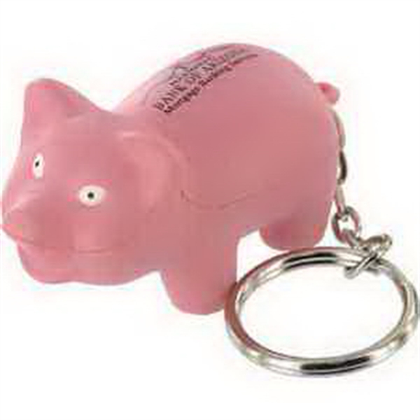 Custom Farm Animal Key Chain Stress Reliever