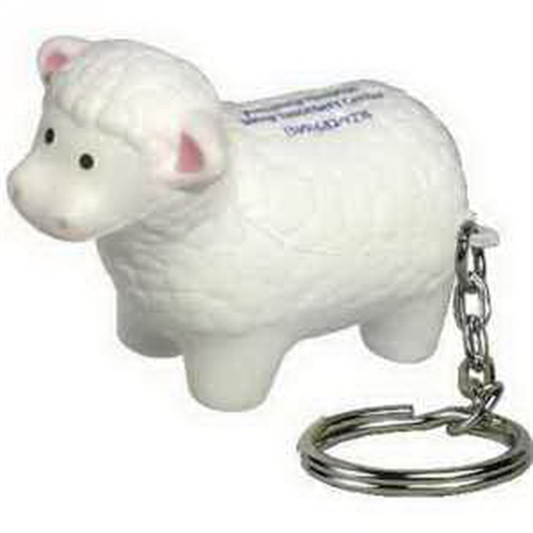 Printed Sheep Key Chain Stress Reliever