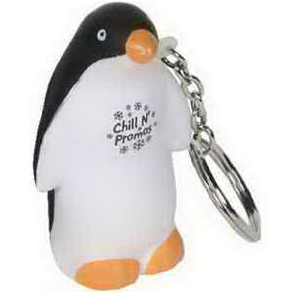 Personalized Penguin Key Chain Stress Reliever