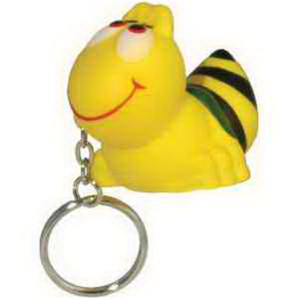 Imprinted Bee Key Chain Stress Reliever