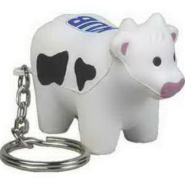 Customized Farm Animal Key Chain Stress Reliever