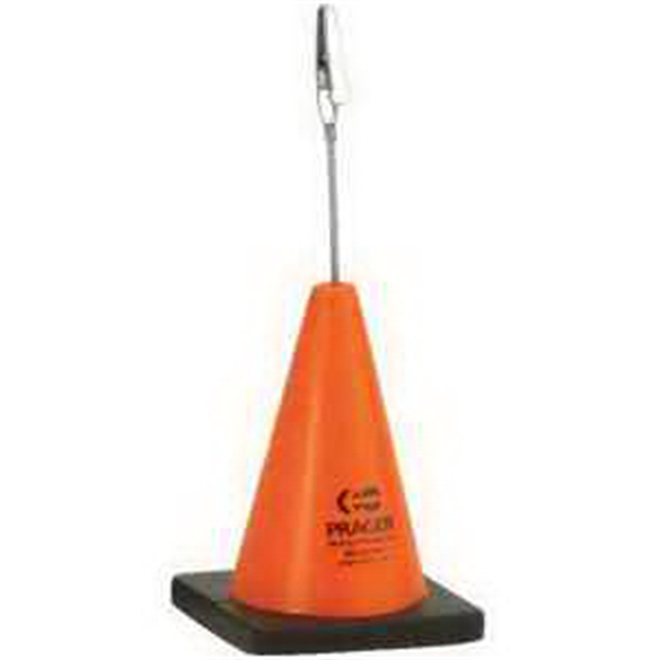 Imprinted Construction Cone Memo Holder Stress Reliever