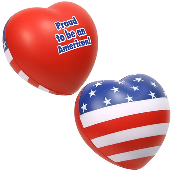 Personalized Patriotic Valentine Heart Stress Reliever