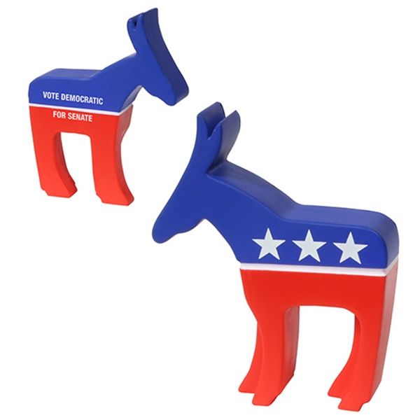 Imprinted Democratic Donkey Stress reliever