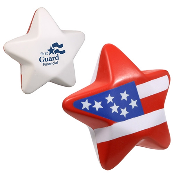 Personalized Patriotic Star Stress Reliever